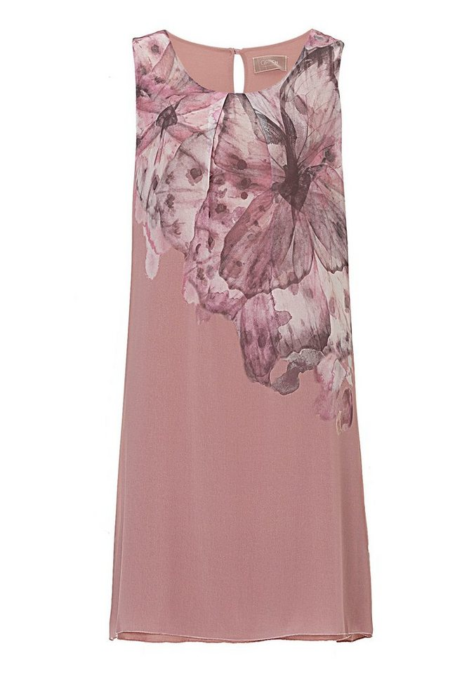 Cartoon Kleid in Taupe/Rosa - Braun