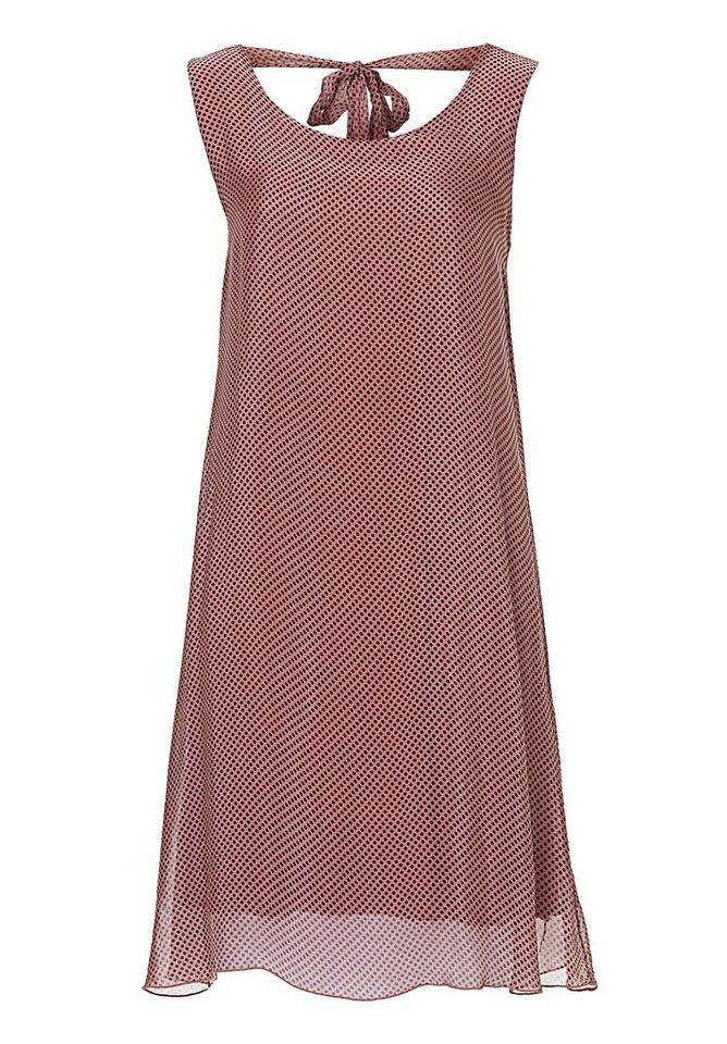 Cartoon Kleid in Rosé/Grey - Rot