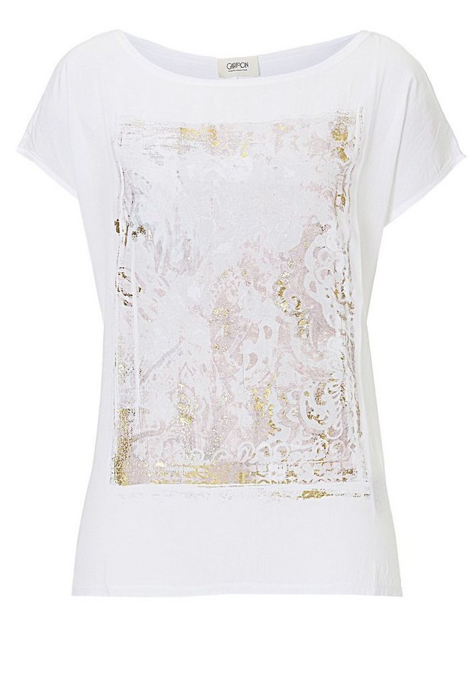 Cartoon Shirt in Weiß - Bunt