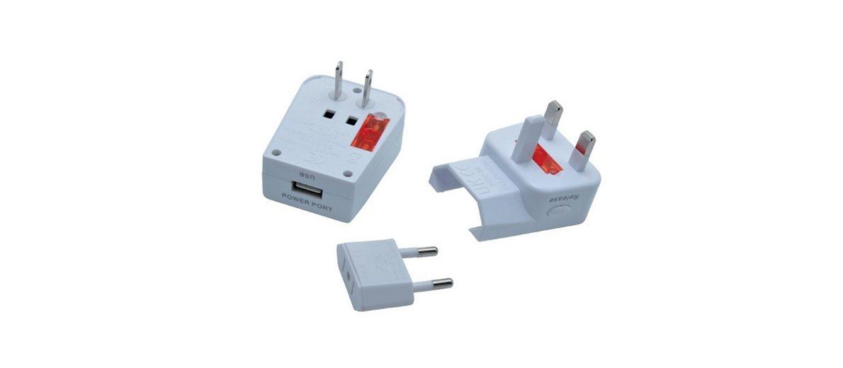 baladeo Reisestecker »Miles mit USB-Anschluss«