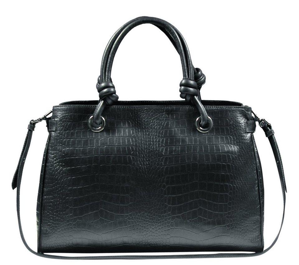 Silvio Tossi Handtaschen in schwarz-krokoprägung