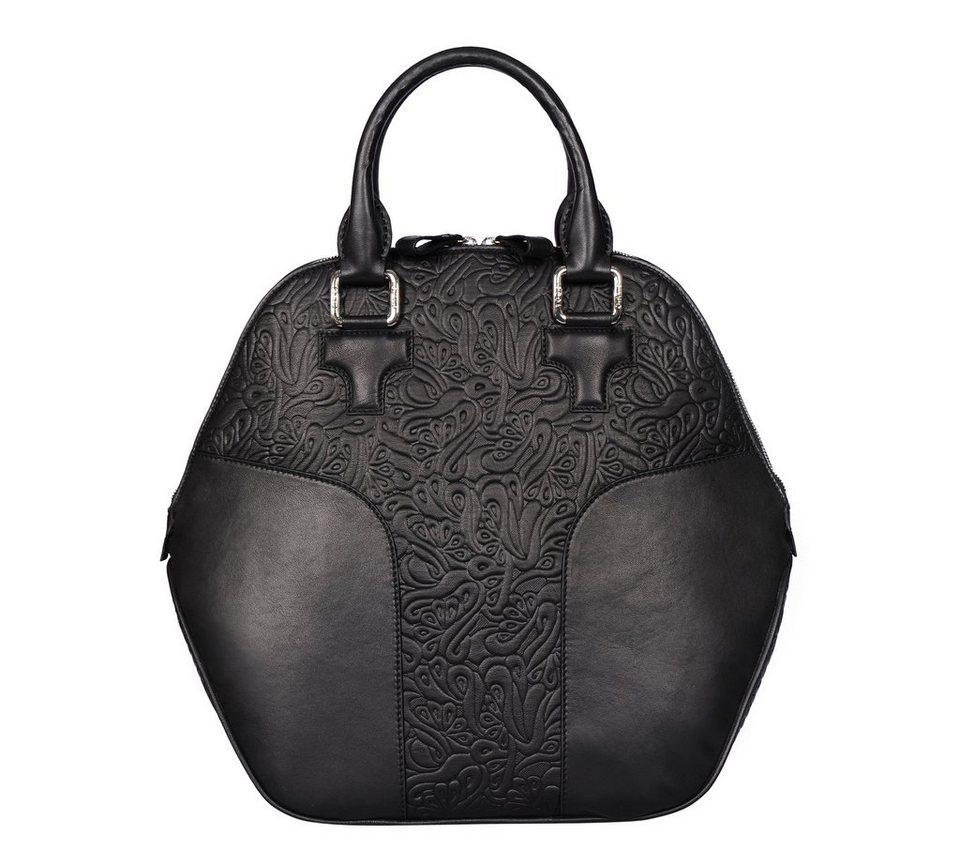 Silvio Tossi Handtaschen in schwarz-fantasieprägung