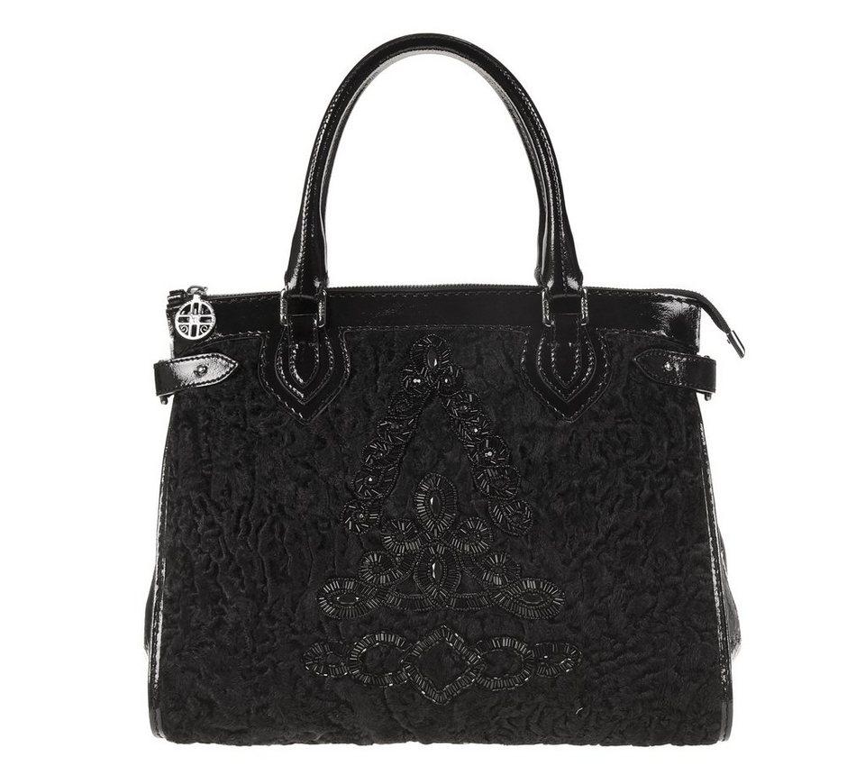 Silvio Tossi Handtaschen in schwarz-astrakhan