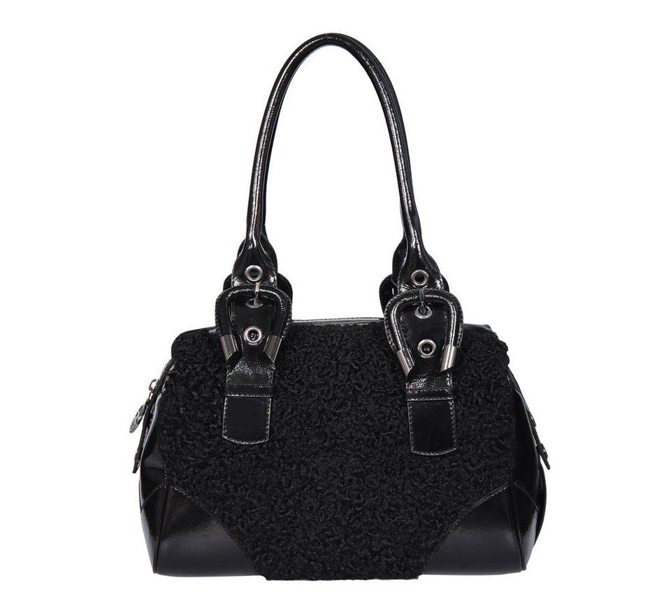 Silvio Tossi Handtaschen in schwarz-kalbslack