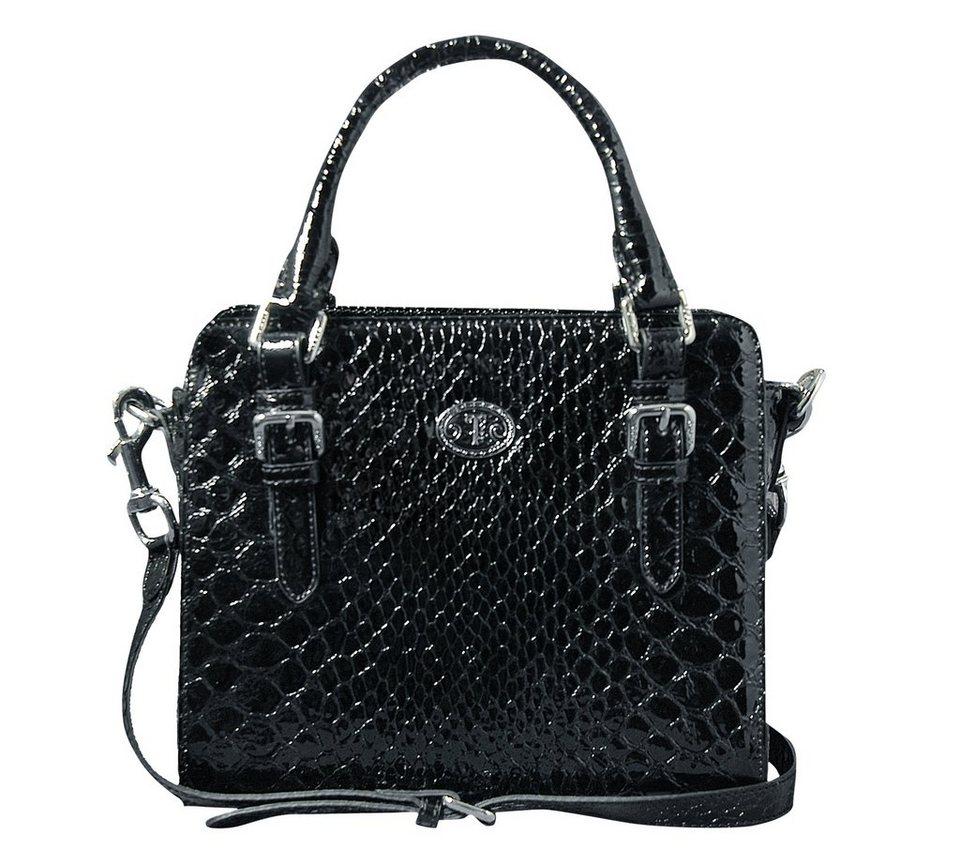 Silvio Tossi Handtaschen in schwarz-pythonprägung