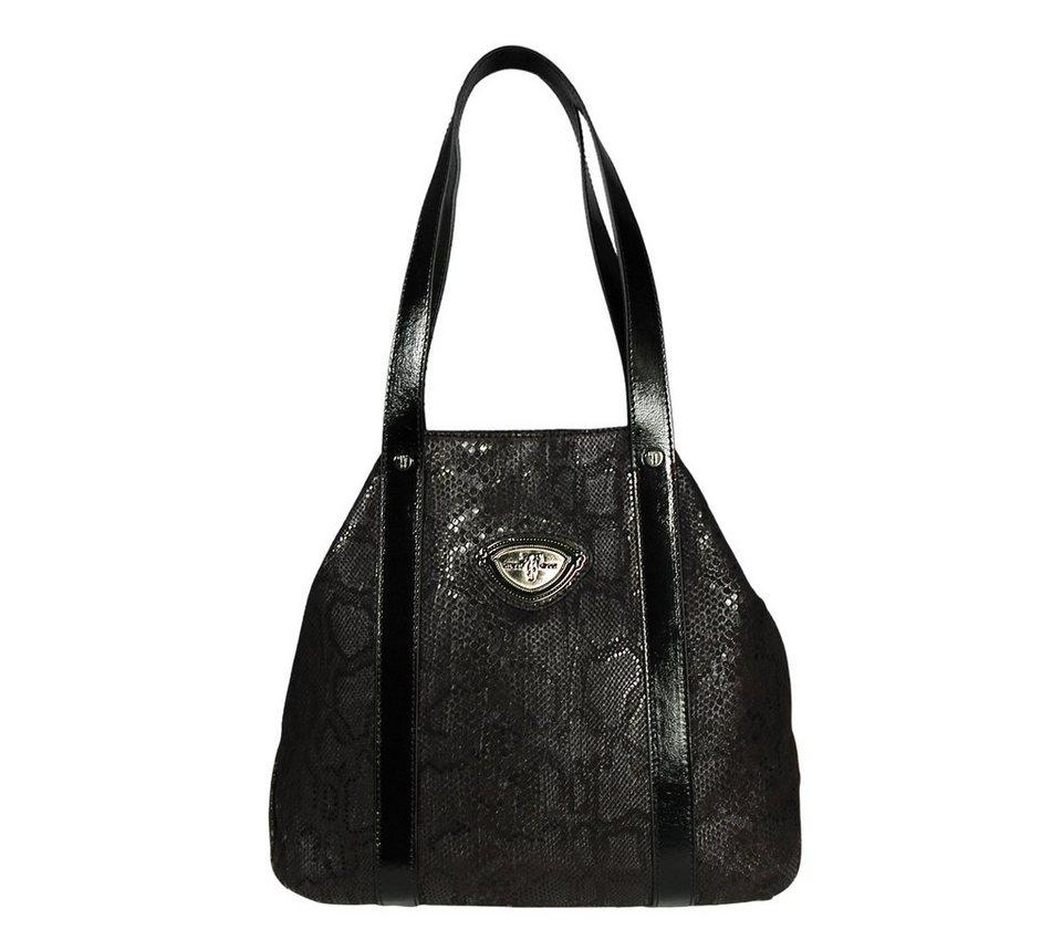 Silvio Tossi Handtaschen in schwarz-snakeprint