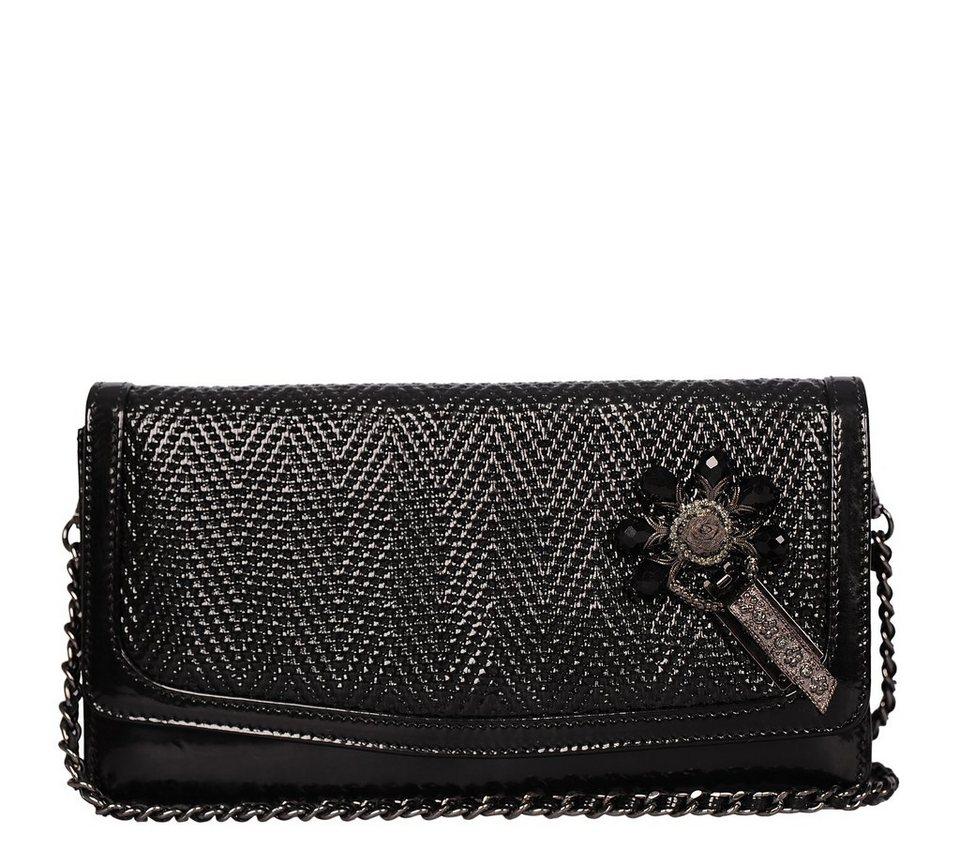 Silvio Tossi Handtaschen in schwarz-geprägt