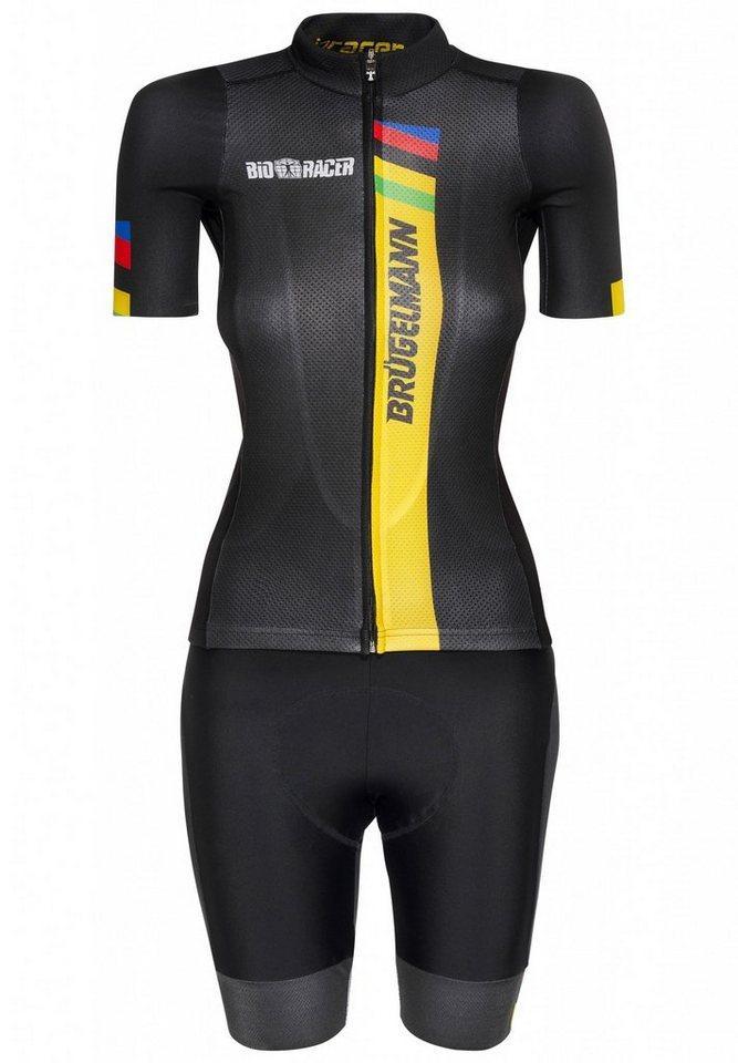 Brügelmann Radtrikot »Bioracer Pro Race Set Women« in schwarz
