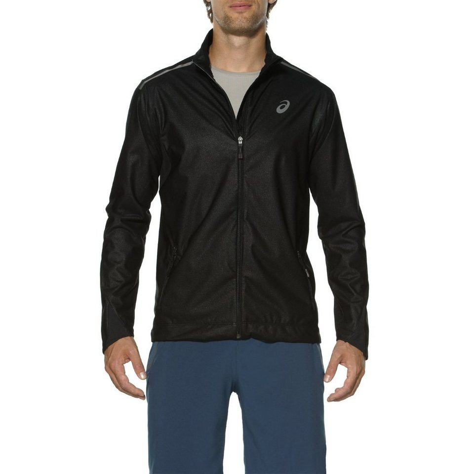 asics Trainingsjacke »Windblock Jacket Men« in schwarz
