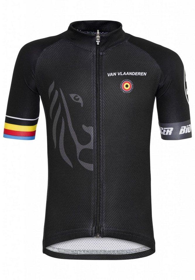 Bioracer Trikot »Van Vlaanderen Pro Race Jersey Kids« in schwarz