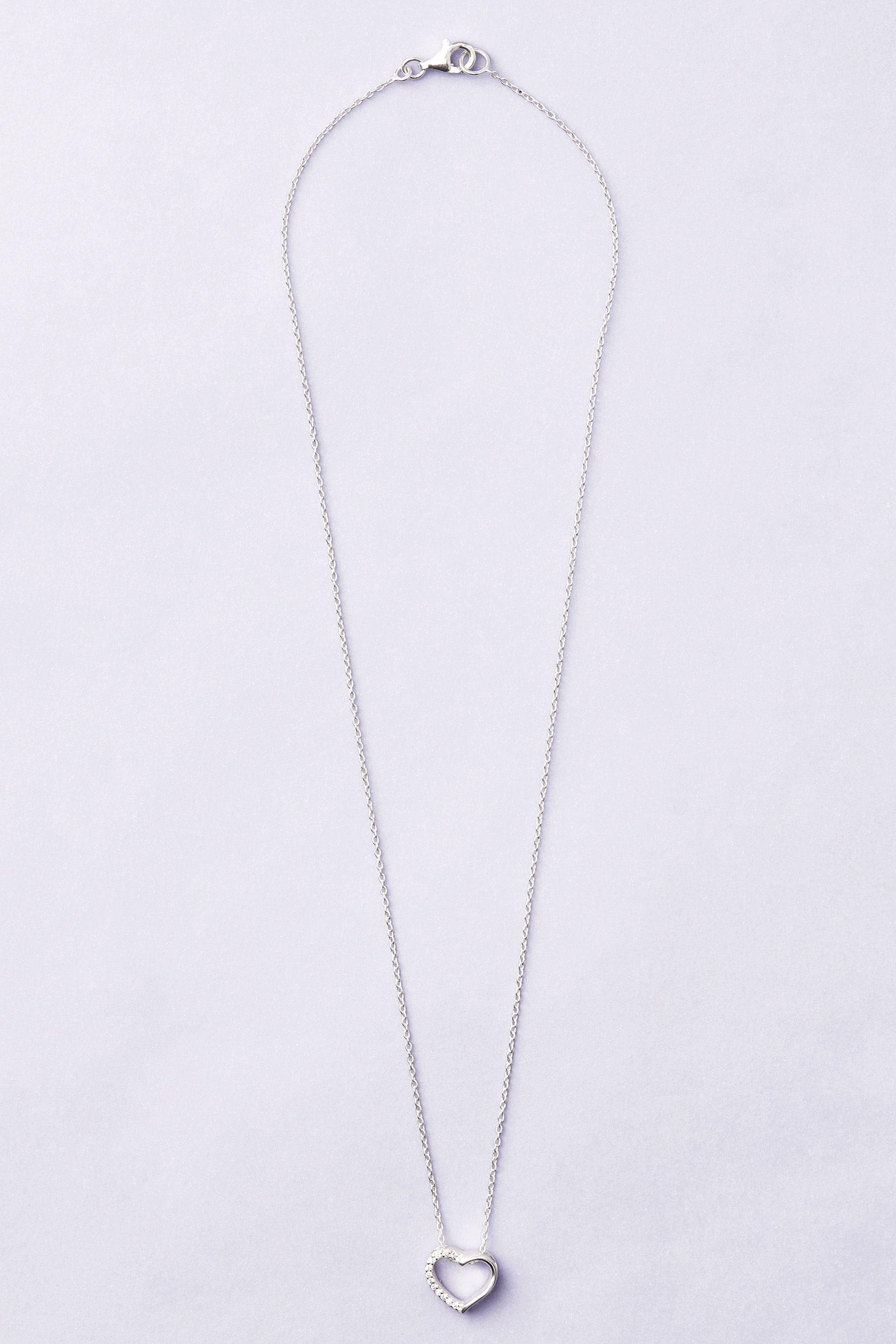 Next Halskette aus Sterlingsilber mit Strassherz