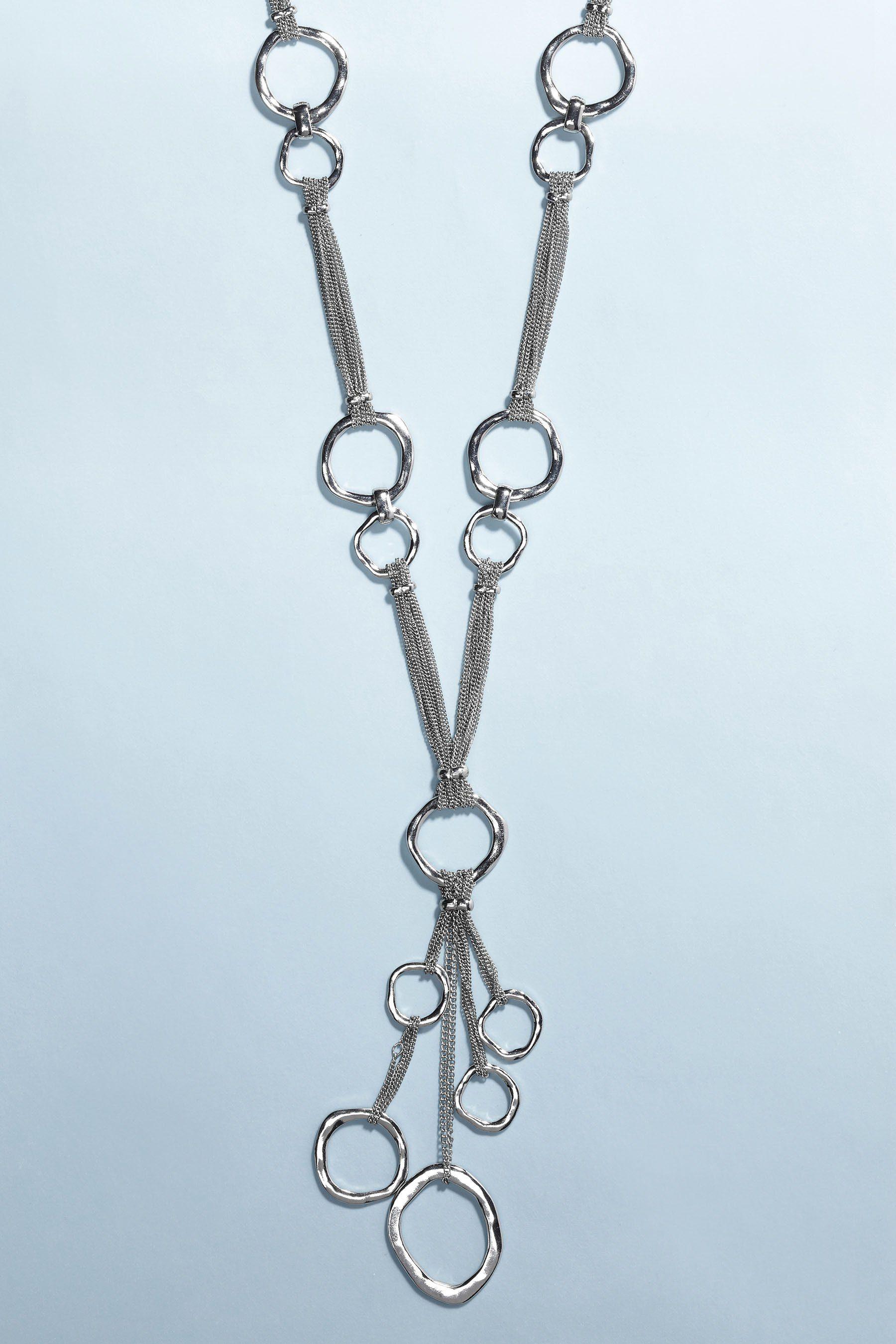 Next Lange Halskette mit Ringanhängern