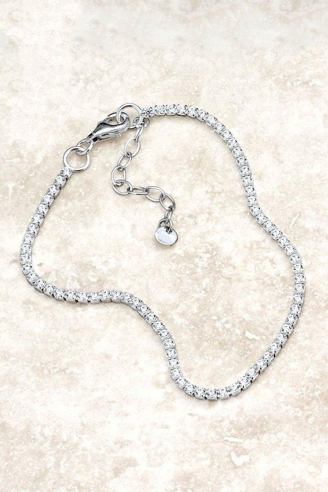 Next Armband aus Sterlingsilber mit Zirkonia in Silberfarben