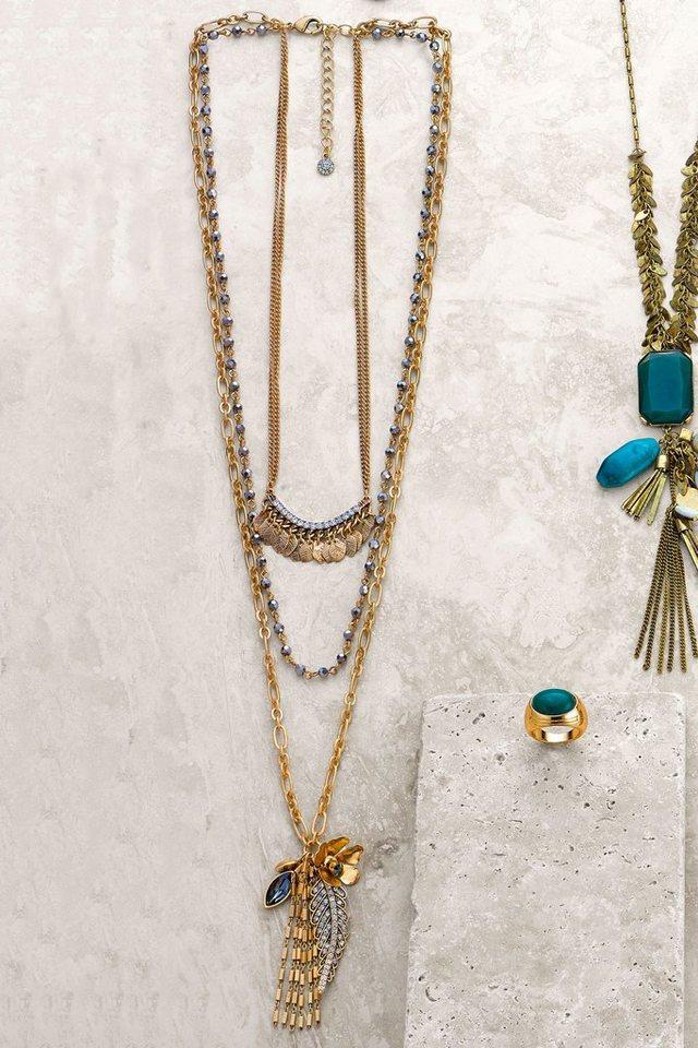 Next Mehrreihige Halskette in Gold