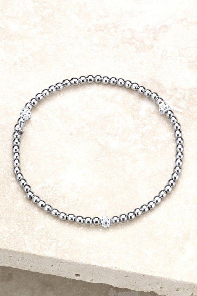 Next Armband aus Sterlingsilber mit Strasskugeln in Silberfarben