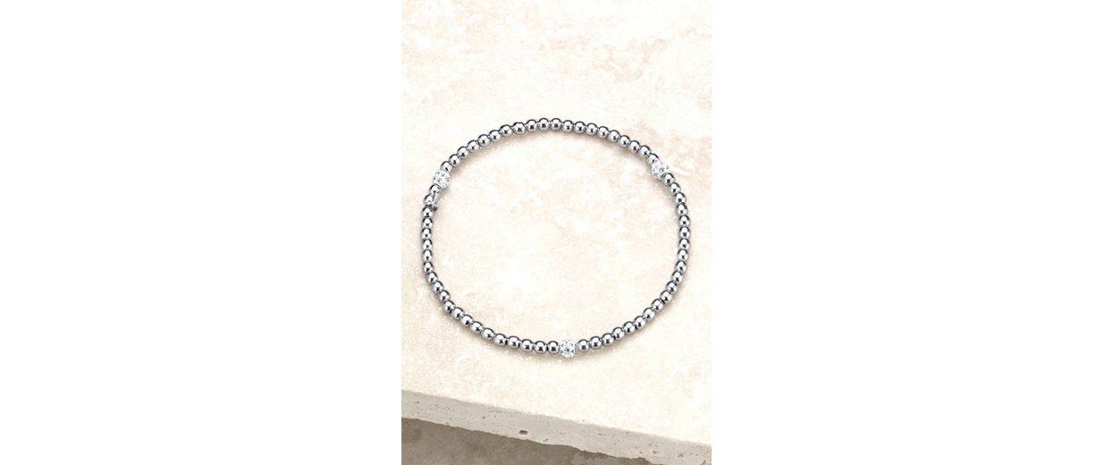 Next Armband aus Sterlingsilber mit Strasskugeln