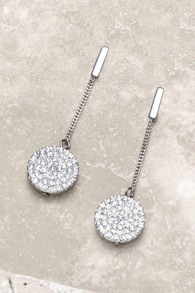 Next Ohrringe mit Scheibenanhängern in Silberfarben