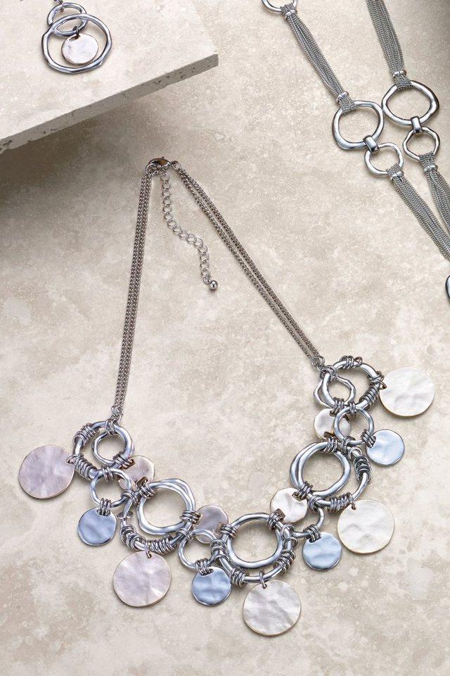 Next Kurze Kette mit Scheibenanhängern in Silberfarben