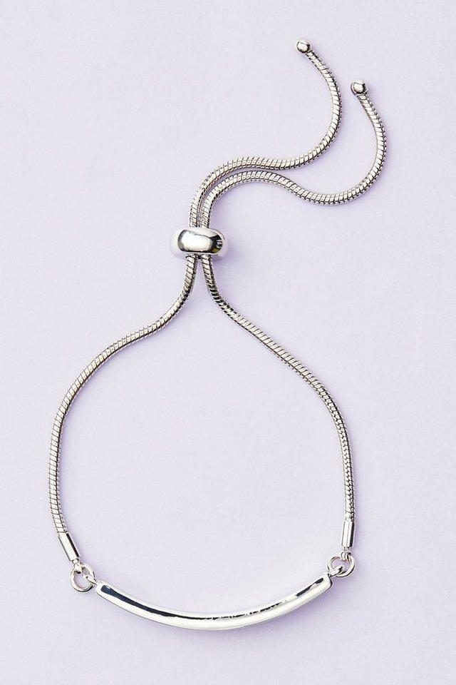 Next Armband mit Glitzerdetail in Silberfarben