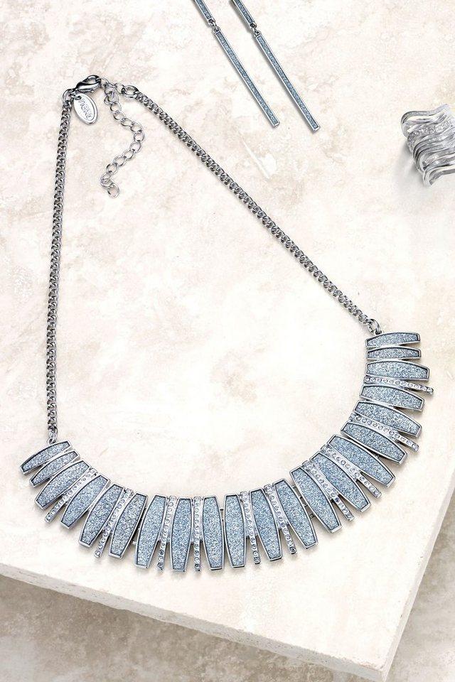 Next Prägnante Halskette mit Glitzerdetail in Silberfarben