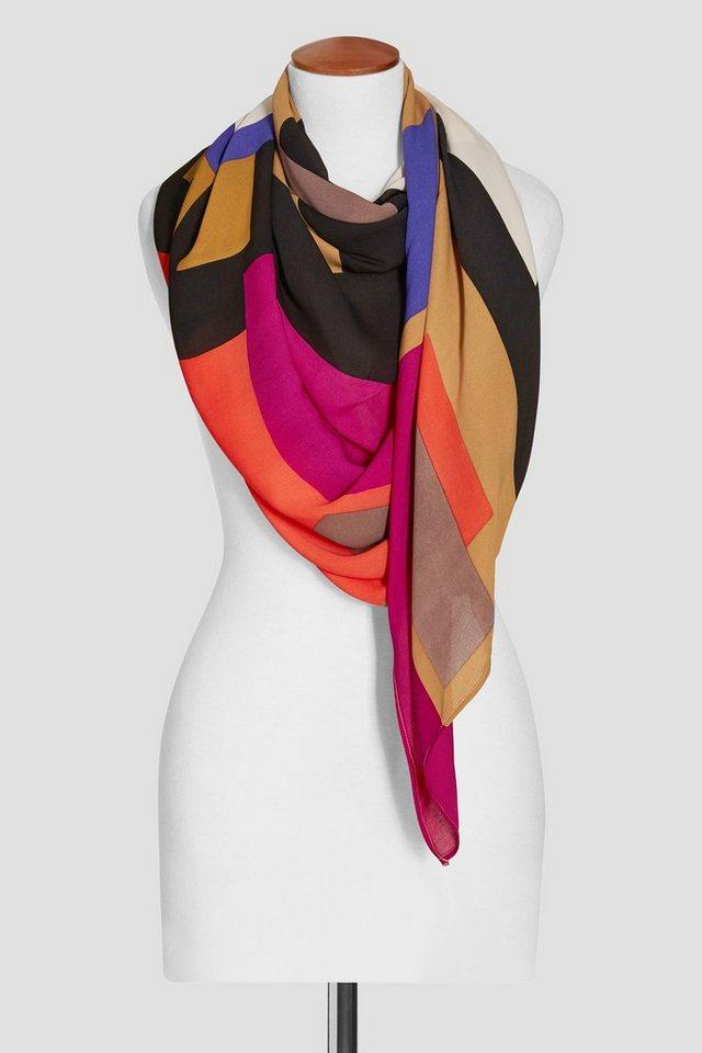 Next Schal in Colourblock-Optik in Rot