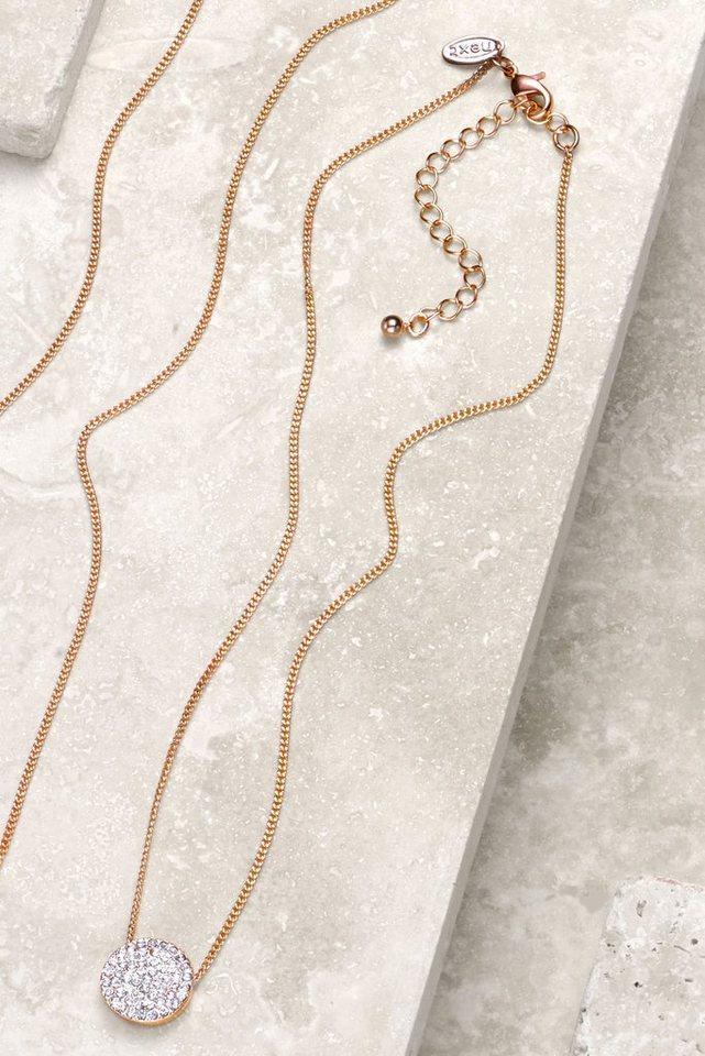 Next Halskette mit Scheibenanhänger in Roségoldfraben