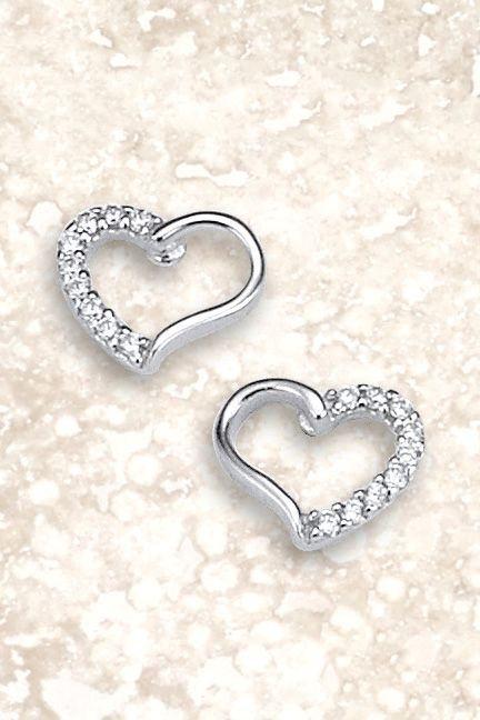 Next Ohrringe in Herzform aus Sterlingsilber in Silberfarben