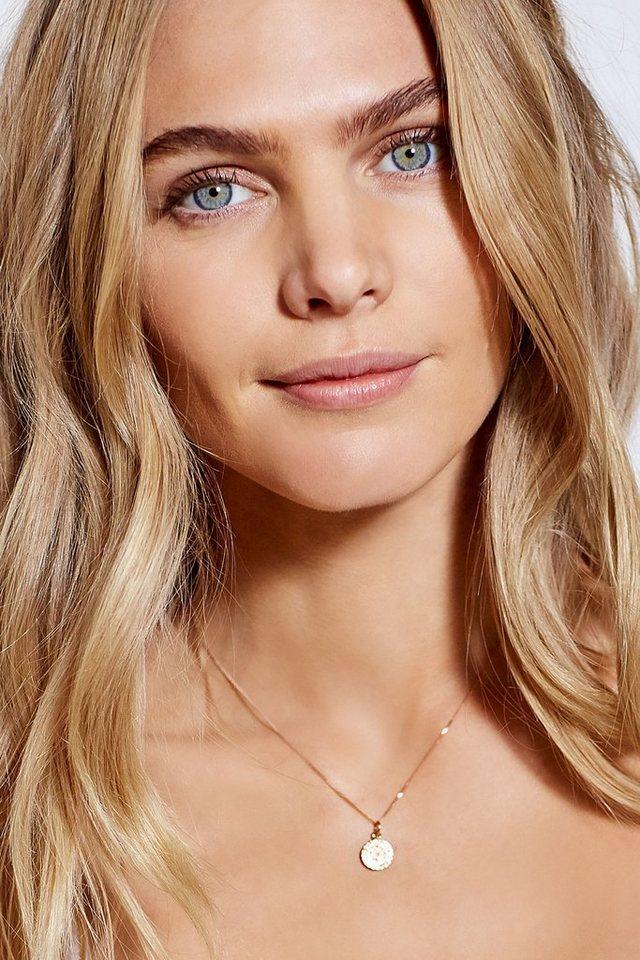 Next Halskette mit Scheibenanhänger in Sterling-Silber/roségold