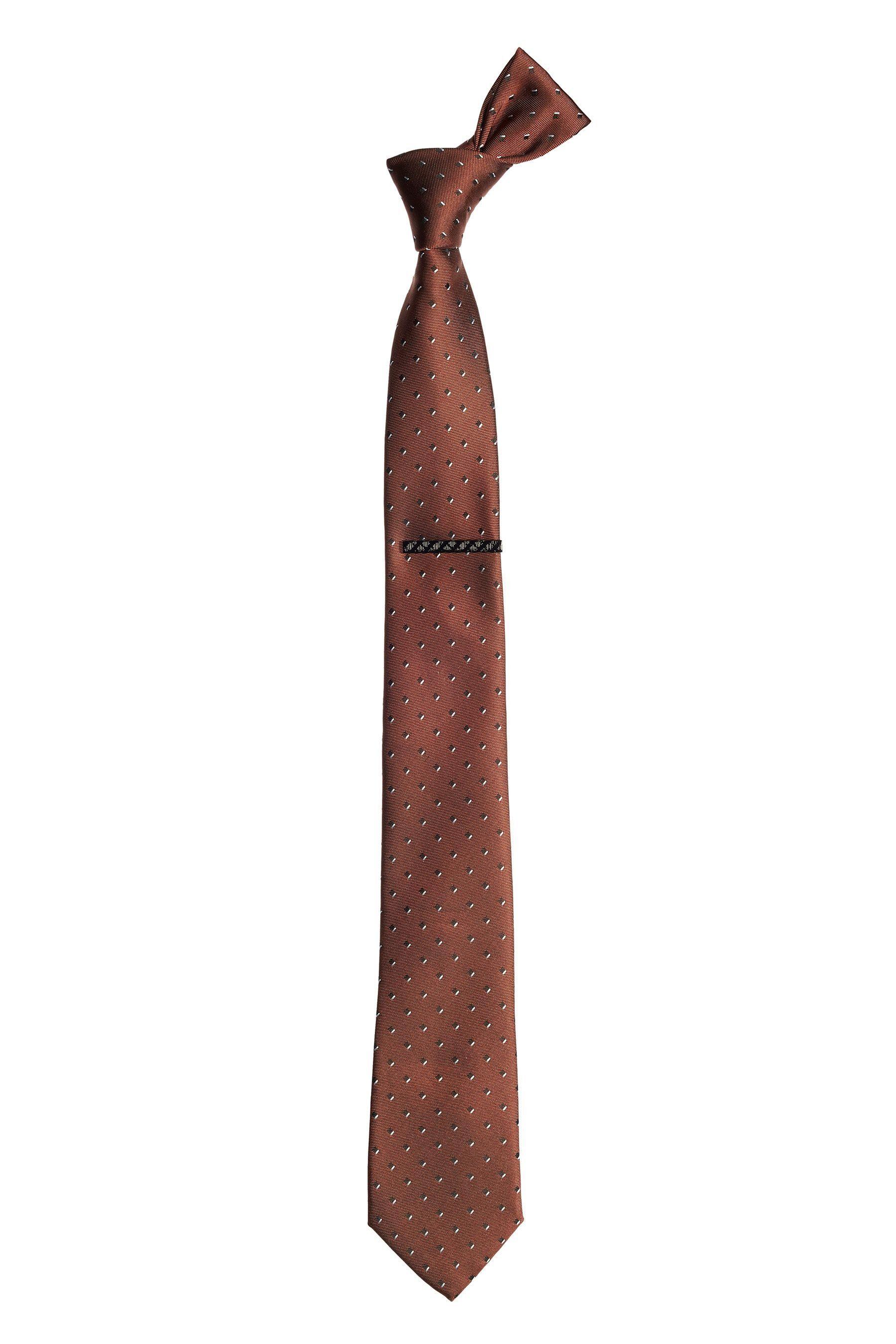 Next Gemusterte Krawatte und Krawattennadel 2 teilig