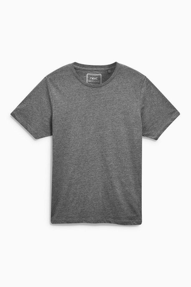 Next T-Shirt mit Rundhalsausschnitt in Dunkelgrau