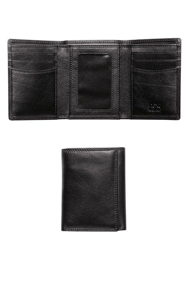 Next Faltbrieftasche aus Leder in Schwarz