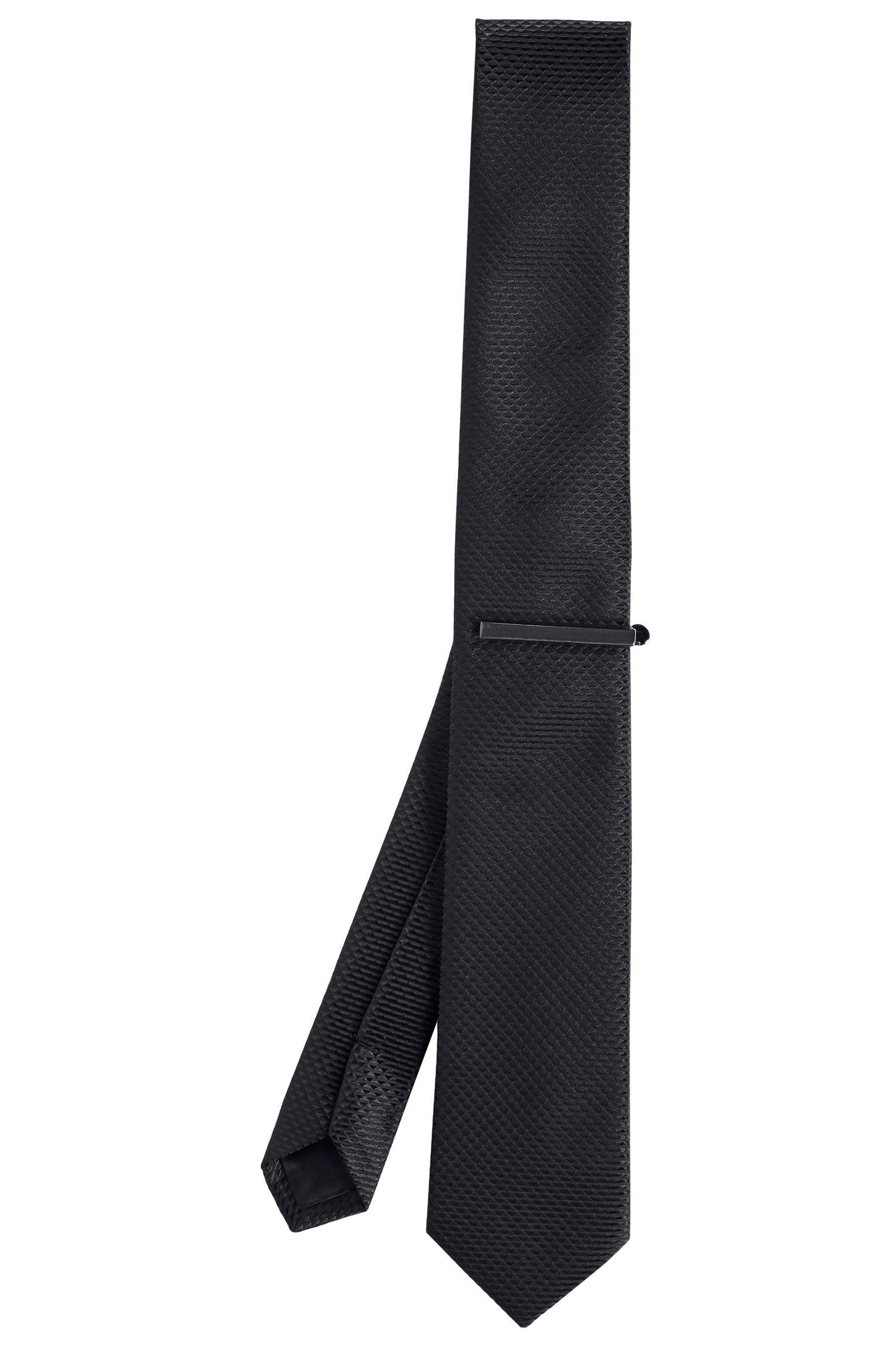 Next Strukturierte Krawatte und Krawattenklammer 2 teilig