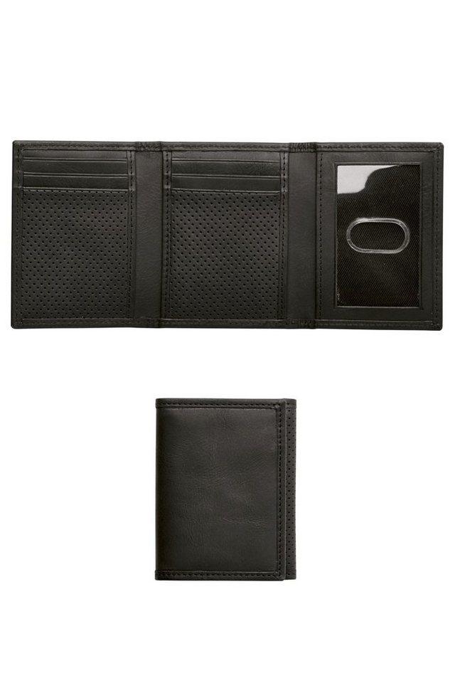 Next Faltbrieftasche aus strukturiertem Leder in Schwarz