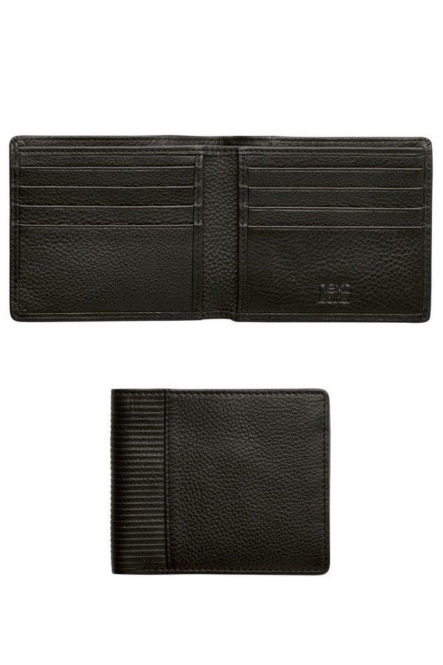 Next Klappbrieftasche aus strukturiertem Leder in Schwarz
