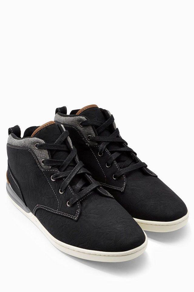 Next Mittelhoher Sneaker in Schwarz