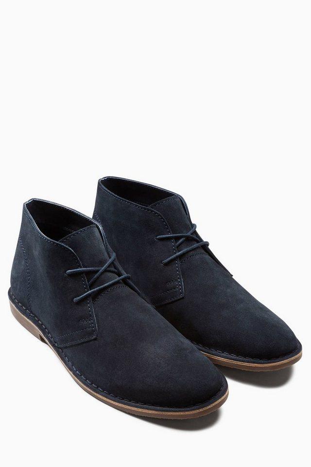 Next Stiefel aus Veloursleder in Marine