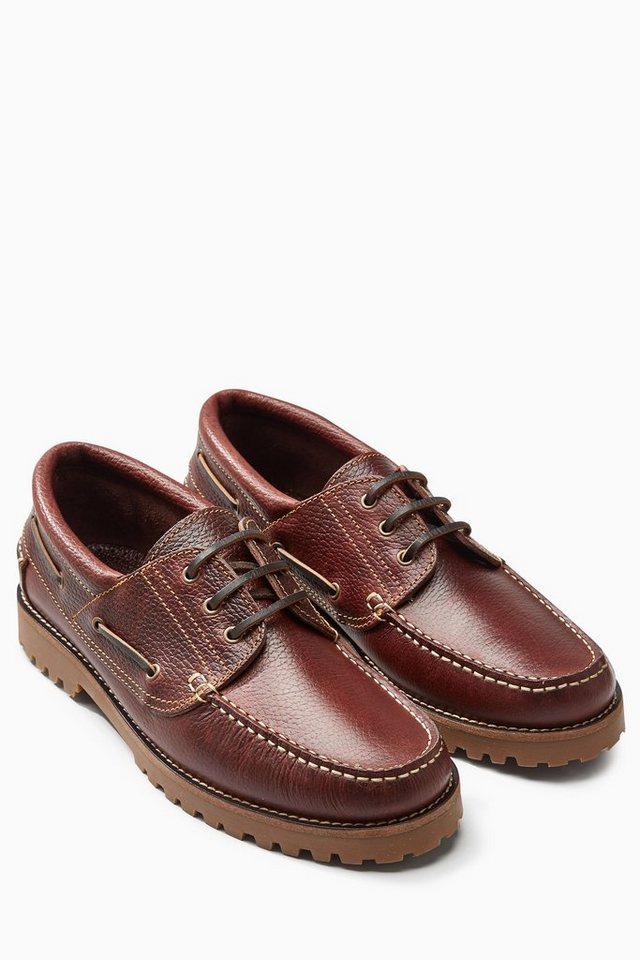 Next Zweifarbiger Schuh aus Leder in Braun