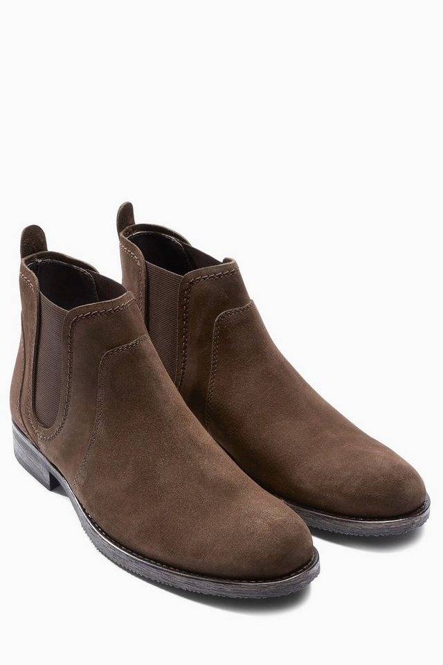 Next Stiefelette aus Veloursleder in Brown