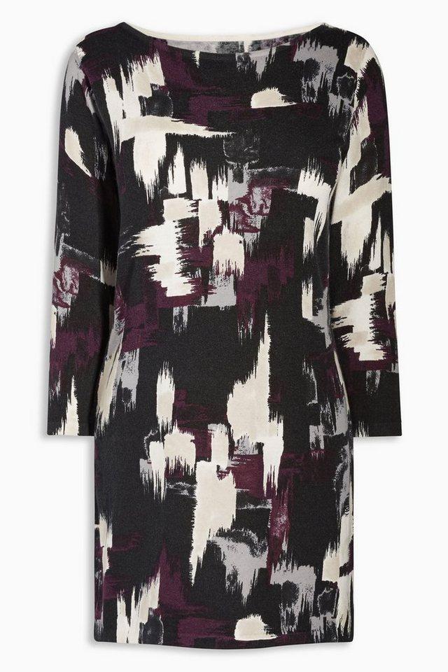 Next Kleid mit U-Boot-Ausschnitt in Schwarz/weiß