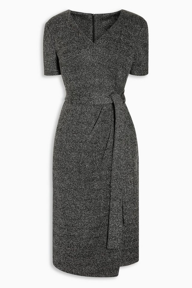 Next Kleid im Strick-Look in Grau