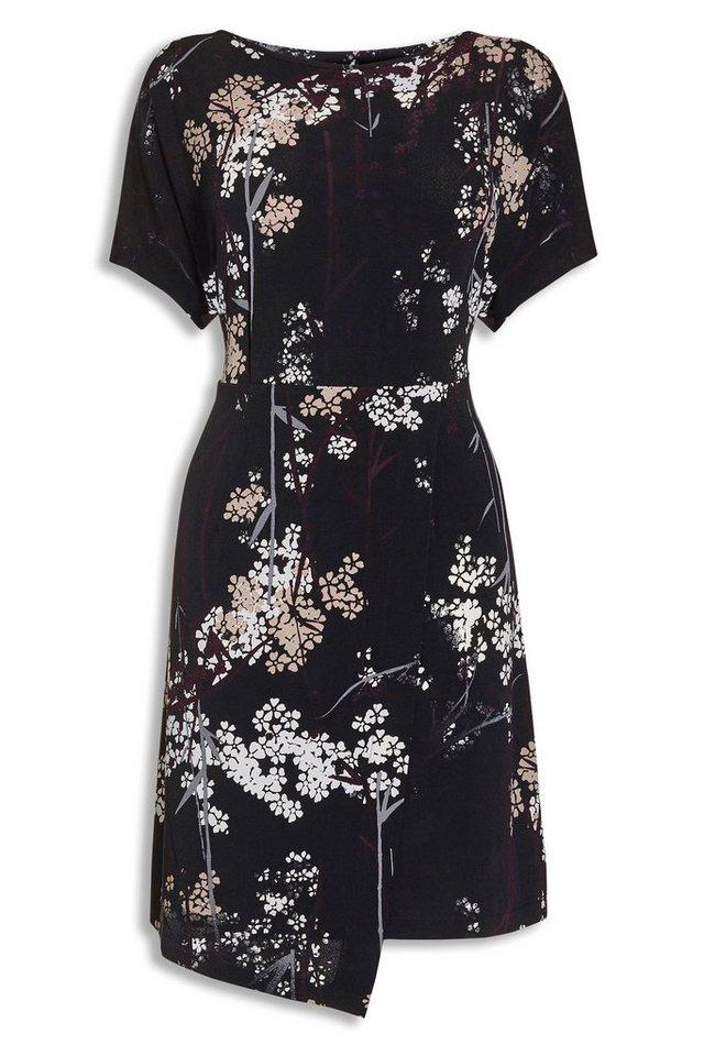 Next Kleid mit floralem Muster in Schwarz