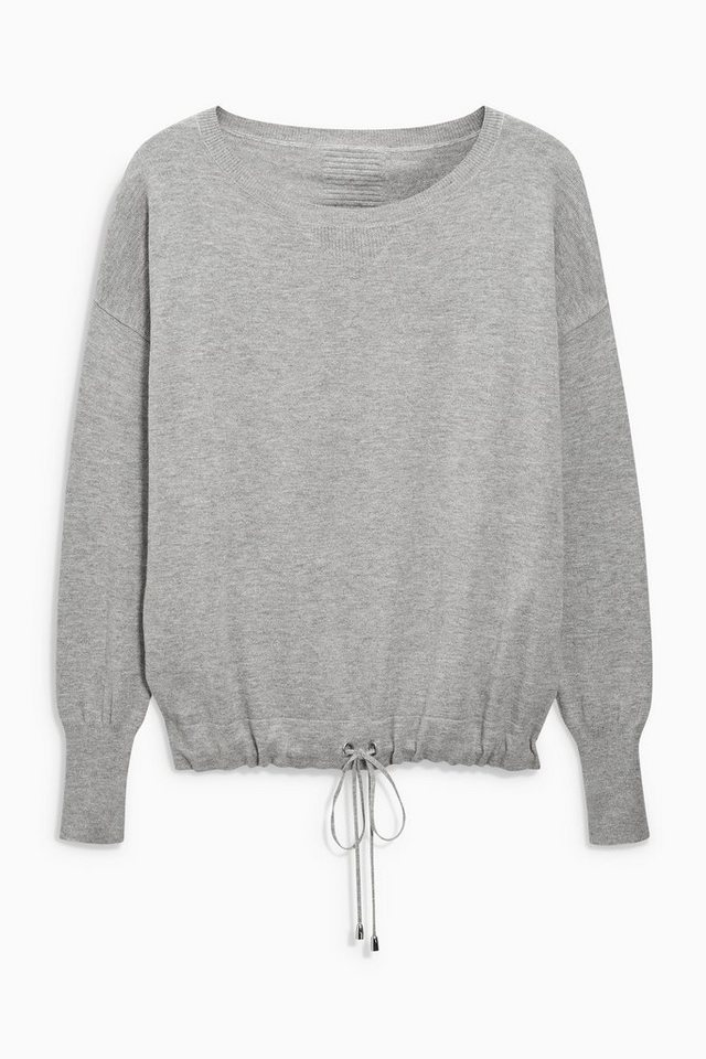 Next Sweatshirt mit Tunnelzugsaum in Grau