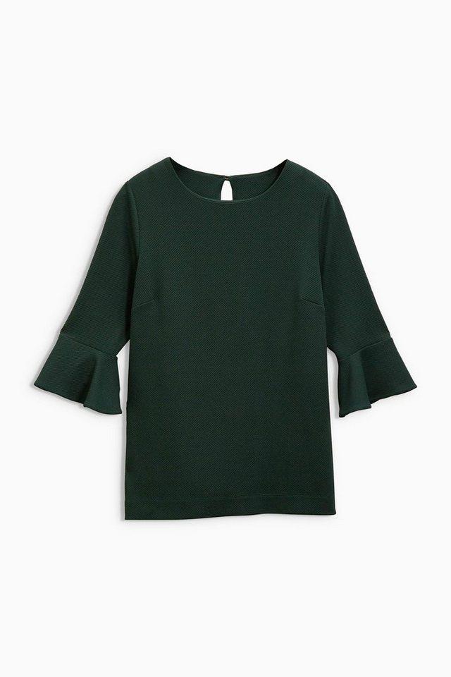 Next Shirt mit Trompetenärmeln in Grün