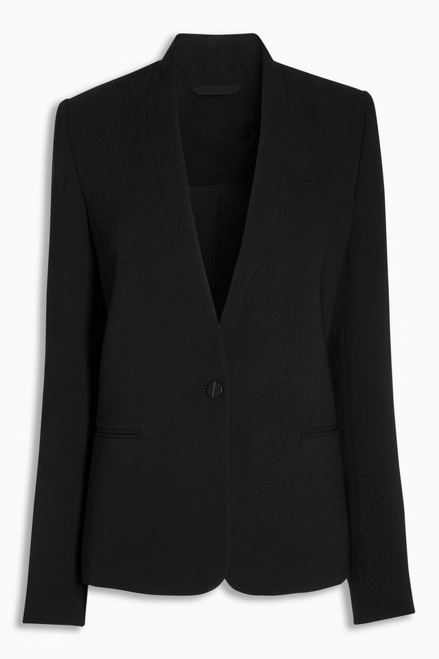 Next Crêpe-Blazer in Schwarz