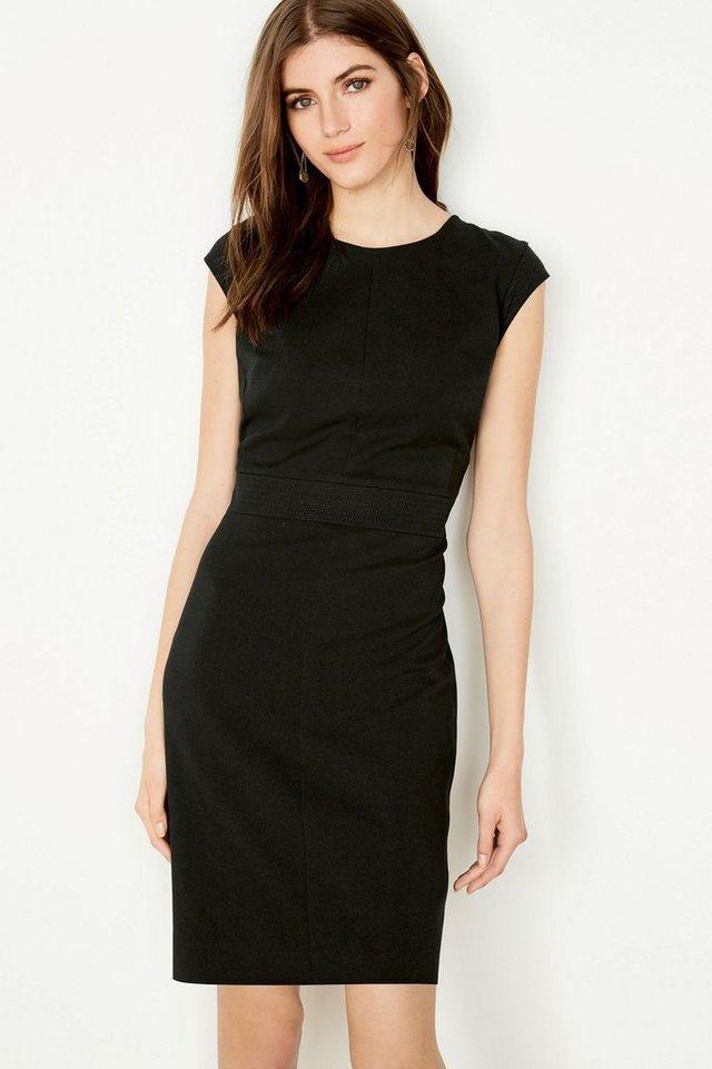 Next Kleid mit Ziernähten in Schwarz