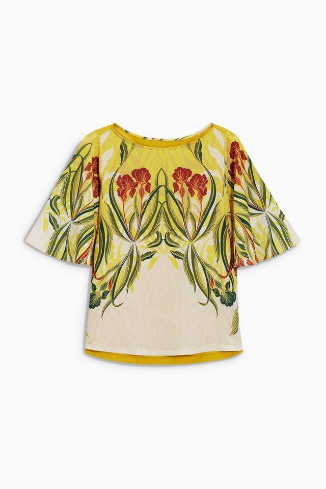 Next T-Shirt mit Blumendruck in Gelb