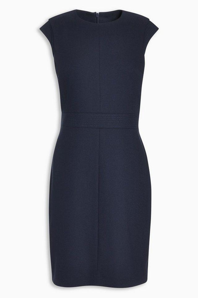 Next Kleid mit Ziernähten in Blau