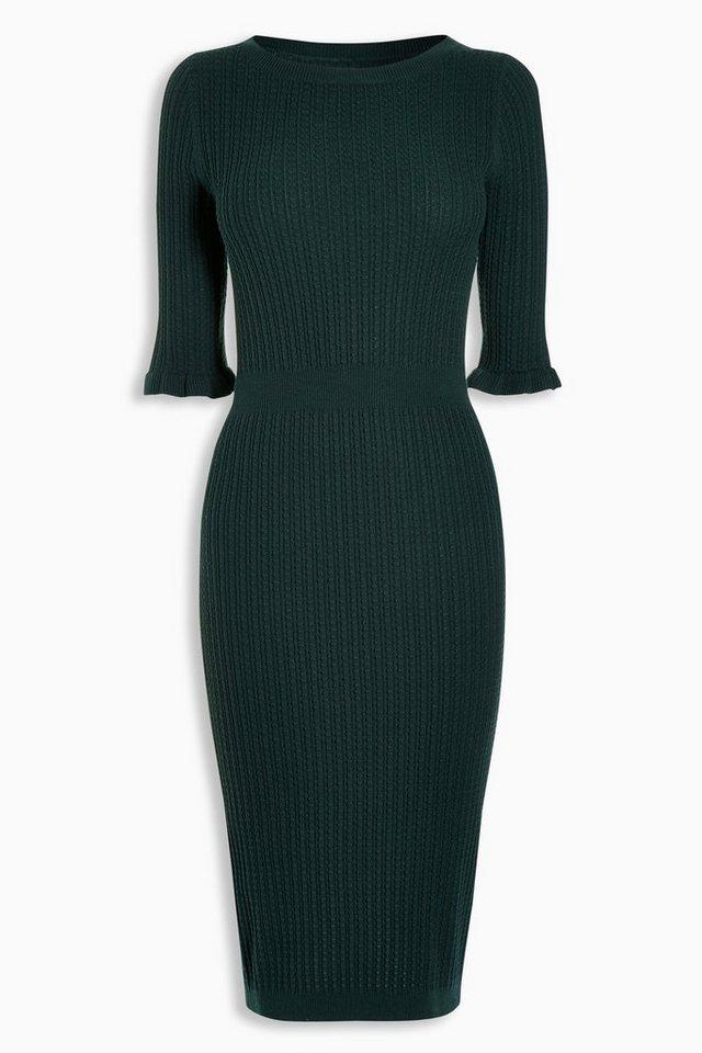Next Strukturiertes Kleid in Grün