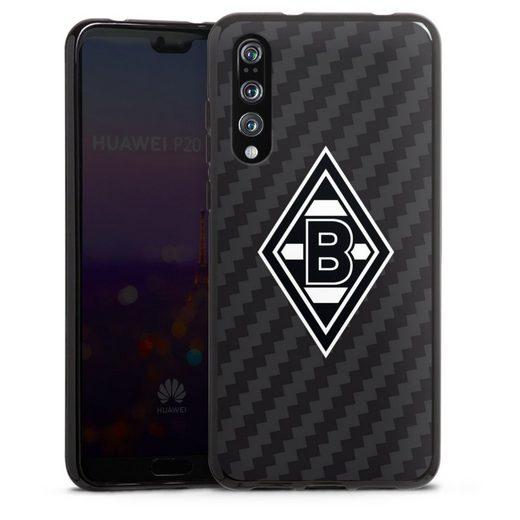 DeinDesign Handyhülle »Borussia Raute Carbon« Huawei P20 Pro, Hülle Gladbach Borussia Mönchengladbach Carbon