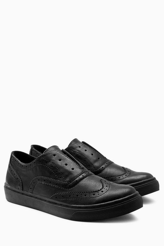 Next Sneaker mit Brogue-Details in Schwarz